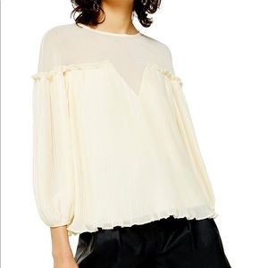 NWT Topshop Pleated Blouse